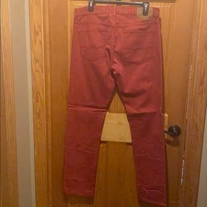 Mens Skinny American Eagle Brick Red Jeans 32 x 34